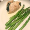 Dinner: Spinach & Goat Cheese Stuffed Chicken