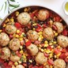 Dinner: Southwest Turkey Meatballs with Warm Corn + Black Bean Salsa