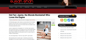 Susan Shan Hot Fan Interviews The Blonde Side, Jayme Lamm