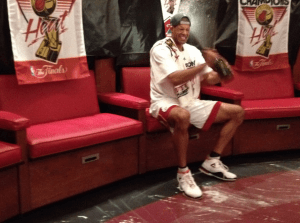 Shane Battier's Frivolous Dom Celebration via his Twitter