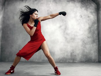 Olympic Boxer, Marlen Esparza, photo courtesy of Facebook Vogue