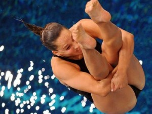 Diver Christina Loukas, photo courtesy of xinhua