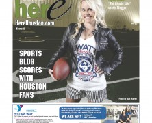 The Blonde Side Makes Front Cover of HERE Houston Magazine