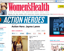 Women's Health Magazine Action Hero: The Blonde Side