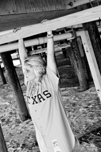 Jayme Lamm of The Blonde Side, Texas Rangers fan (photo courtesy of Vanderford Photography)