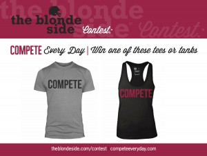 Win a Competition tee or tank from The Blonde Side