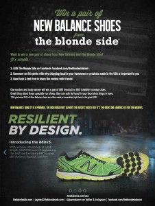 Win a pair of New Balance shoes from The Blonde Side
