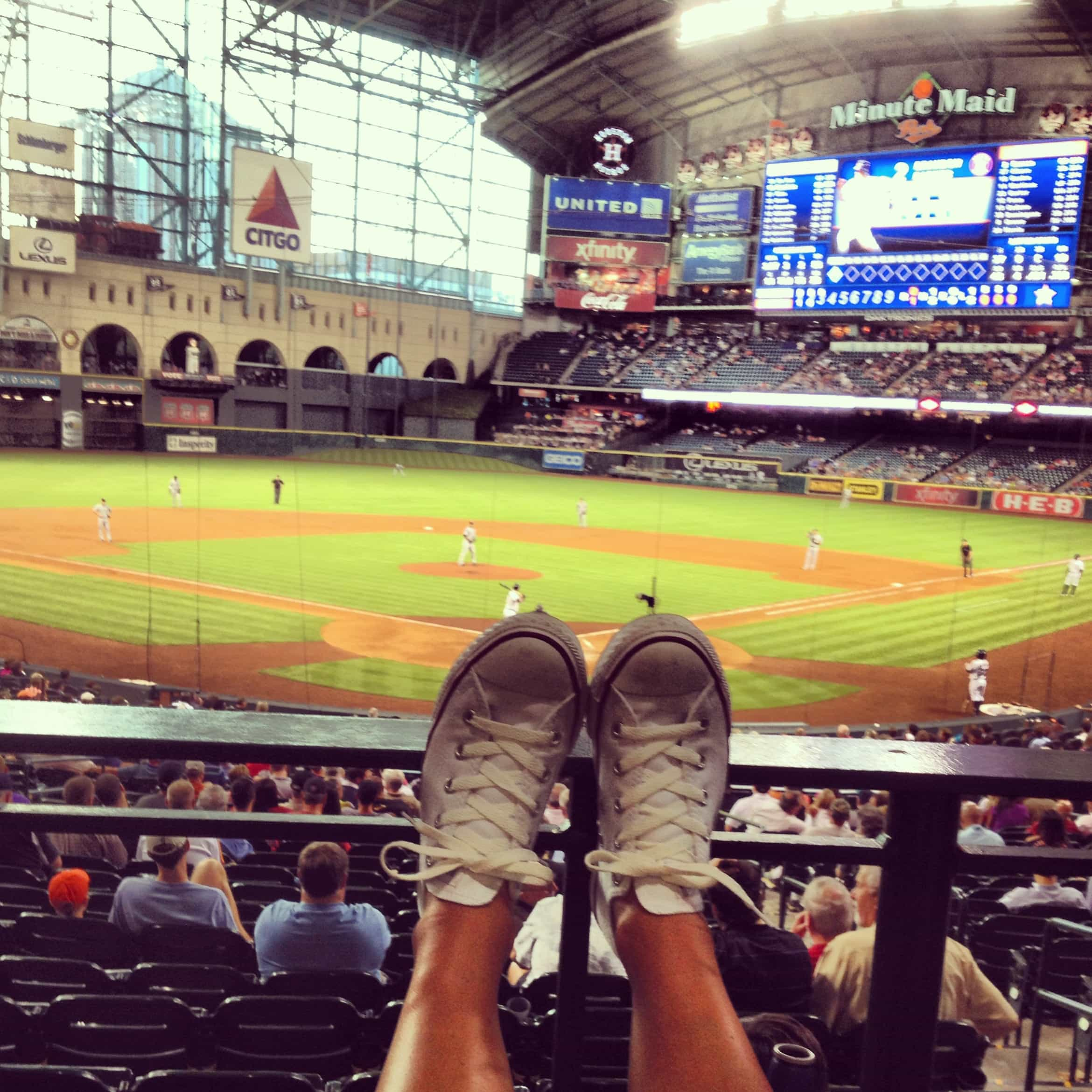 The Blonde Side's legroom at Astros Game