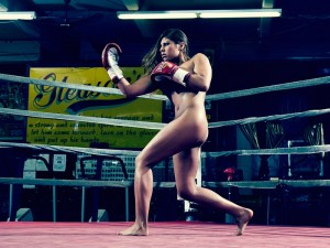 Marlen Esparza in ESPN's Body Issue taken by Peter Hapak in Gleason's Gym, Brooklyn, N.Y. Photo by Peter Hapak/ESPN.go.com