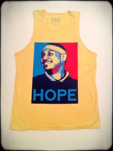 Win this Melo Hope tank or tee from The Blonde Side & Above Penn