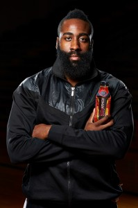 James Harden and BODYARMOR