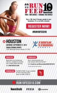Run10Feed10 in Houston - Use promo code WHLAMM for $5 off