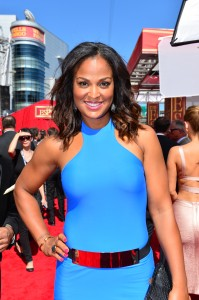 Laila Ali on the 2014 ESPYS Red Carpet (Photo by Rich Arden / ESPN Images)