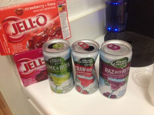 Jello Shots - the only time The Blonde Side excels in the kitchen