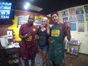Jason, The Blonde Side and Miguel at the Texans Art party