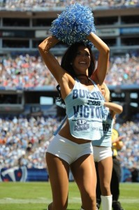 Titans cheerleader Jena showing the NFL world how it's done