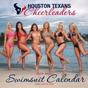 Six beautiful cheerleaders graced the cover of the Houston Texans swimsuit calendar, including our girl Liz