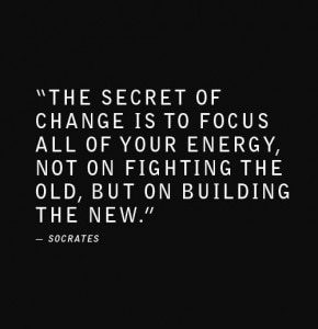 The keyword in moving forward: CHANGE