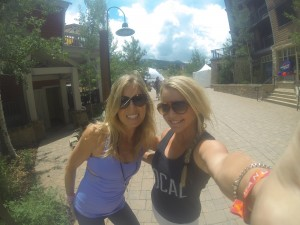 Christy and Jayme hanging out at Wanderlust Aspen