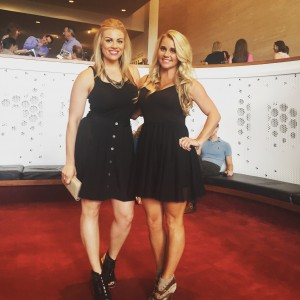 The Blondes: Braidee and Jayme at the Houston Symphony Summer Series