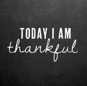 Being thankful is a powerful thing