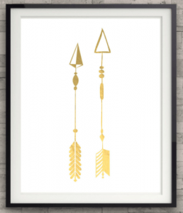FSU Fans: Arrows Gold Foil Print at shopthemanor.com