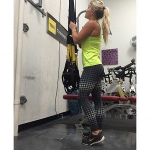 TRX Training at Sculpt in Houston with FitFit pants