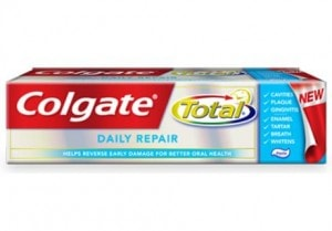 Who needs a teeth whitening app when you have Colgate Total Daily Repair