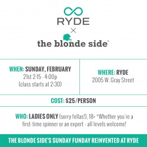 RYDE + The Blonde Side // February 21, 2016