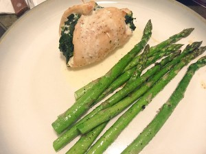 RECIPE: Spinach & Goat Cheese Stuffed Chicken