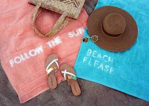 Beach Towel DIY from LSpace