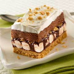 Smore Ice Cream Cake Recipe, via Yummly
