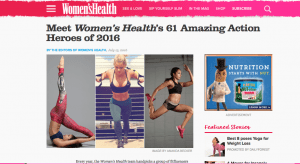 The Blonde Side selected as a Women's Health Magazine Action Hero (TBS photo: Sunshine Winters Photography)
