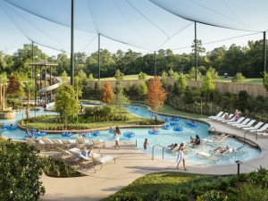 The Lazy River winding through The Woodlands Resort. Photo courtesy of The Woodlands Resort