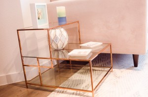 Rose gold side table: Apt2b // Photo: Sunshine Winters Photography